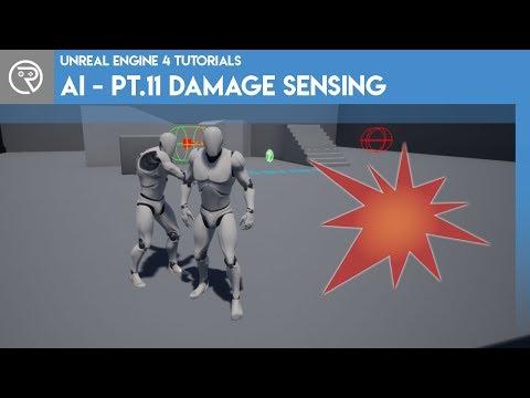 Unreal Engine 4 Tutorial - AI - Part 11 Damage Sensing thumbnail
