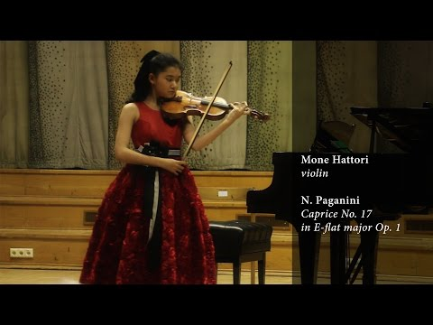 Mone Hattori plays N. Paganini's Caprice No. 17 in E flat major Op. 1
