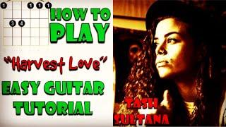 How To Play Harvest Love - (Tash Sultana) Easy Guitar Tutorial