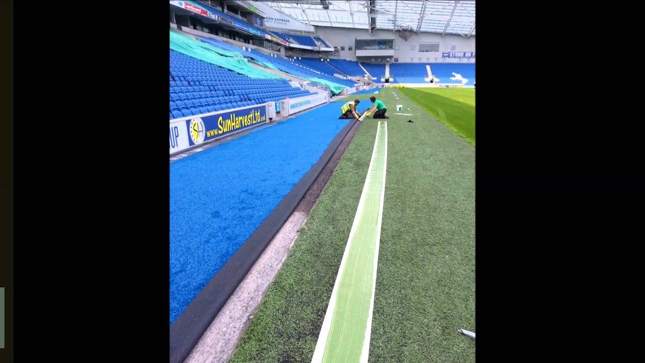 Football Pitch 3G Grass Surfacing Surround at Brighton FC Stadium