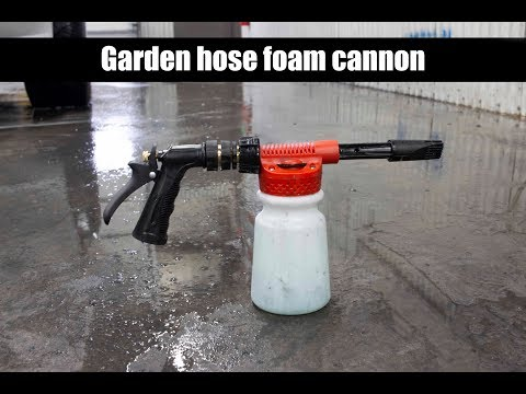 How to use the garden hose foam cannon.