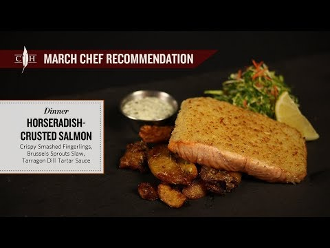 Horseradish-Crusted Salmon - Cooper's Hawk March 2018 Dinner Chef Recommendation