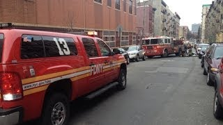 """FDNY"" RESPONE To ""2 ALARM FIRE"" MANHATTAN BOX 1681 On West 160th Street in Manhattan, New York"