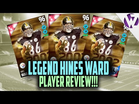 Madden 16 HINES WARD Review (96) 96 Hines Ward Player Review Madden 16 Ultimate Team