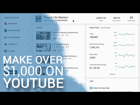 How To Make Over $1,000 Per Month On YouTube