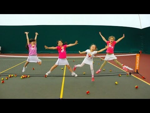 Mini Tennis match girls 7 year old. Самый впечатляющий детский теннис. Таганрог.