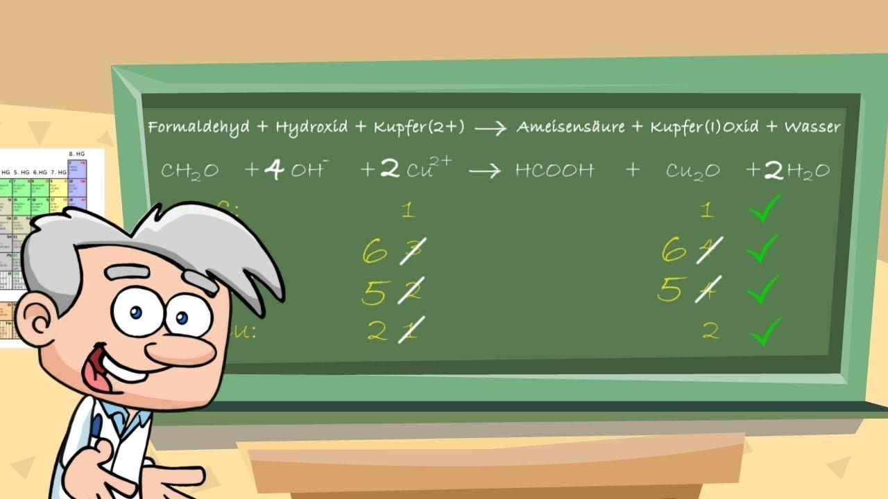 Reaktionsgleichungen aufstellen und ausgleichen - einfach ...