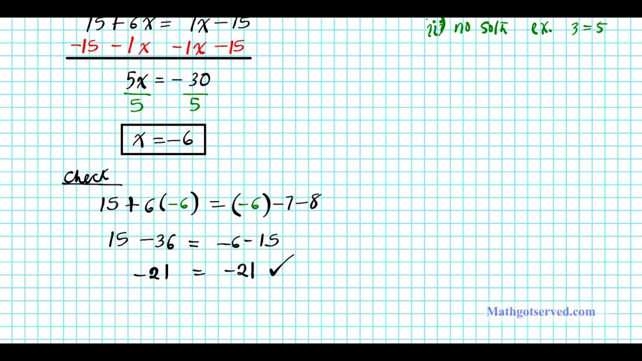 2 1 Solving Multi Step Equations College Algebra 2practice Worksheet
