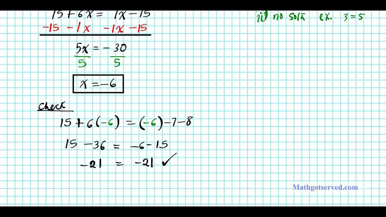 2 1 Solving Multi Step Equations College Algebra 2practice Worksheet