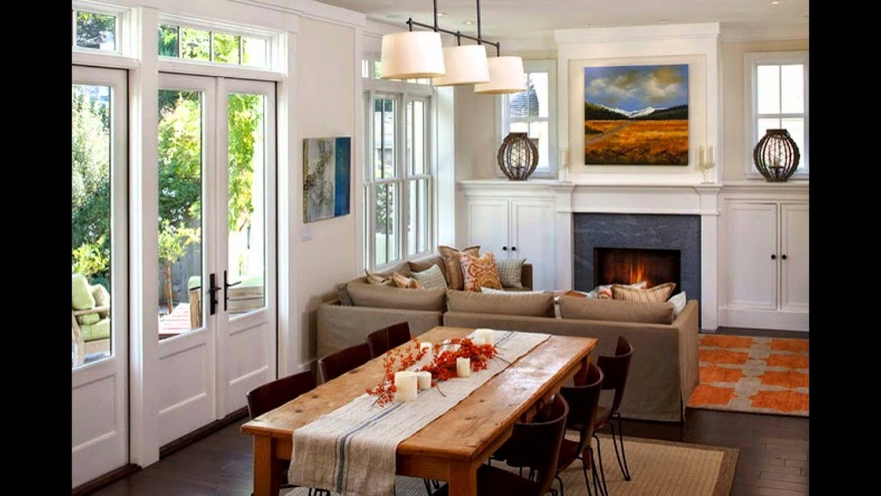 Living and dining room design ideas youtube for Living dining room design ideas