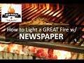 Braai on a Budget: How to light a GREAT fire w/ Newspaper.