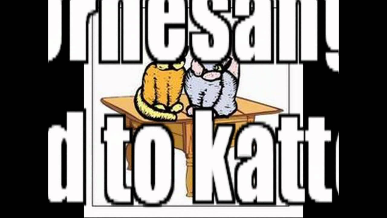 Børnesange - Der sad to katte på et bord