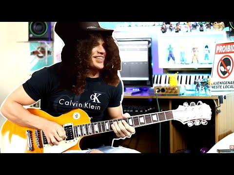 Agora sim ! o Solo Sweet Child O' Mine com cara de Slash ( Tab + Guitar Pro Grátis  )