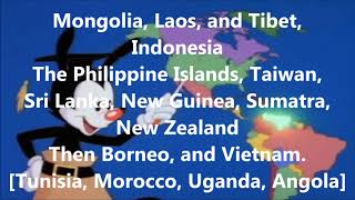 Animaniacs: Yakko's Nations of the World Karaoke
