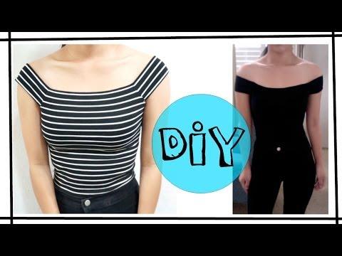 DIY Off The Shoulder Top [EASY]