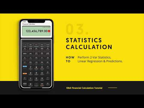 10bII Financial Calculator - Statistics Tutorial & Example