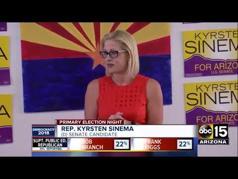 Rep. Kyrsten Sinema wins Democratic nomination for Senate