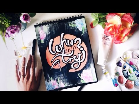 'Why Even Try' · Inspirational Quote Word-Art Painting Process · SemiSkimmedMin