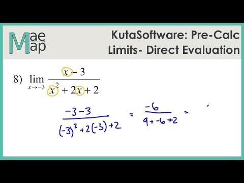 KutaSoftware: Pre-Calc - Limits By Direct Evaluation - YouTube