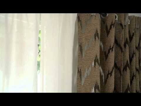 How to Decorate With Sheer Curtains : Home Design & Decorating