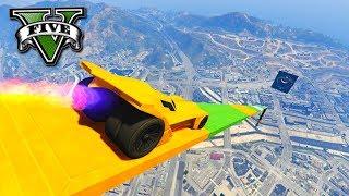 GTA V Online: PEGUEI 900km/h COM BATMÓVEL!!! (MEGA RAMPA)