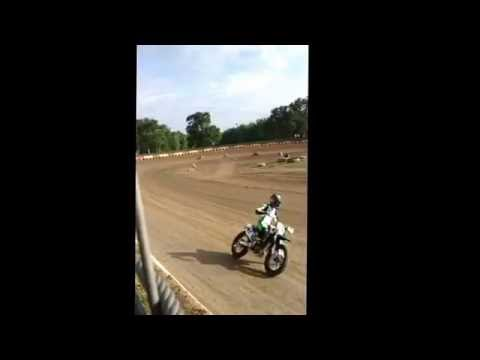 Peoria Speedway flat track motorcycle races 5/27/16