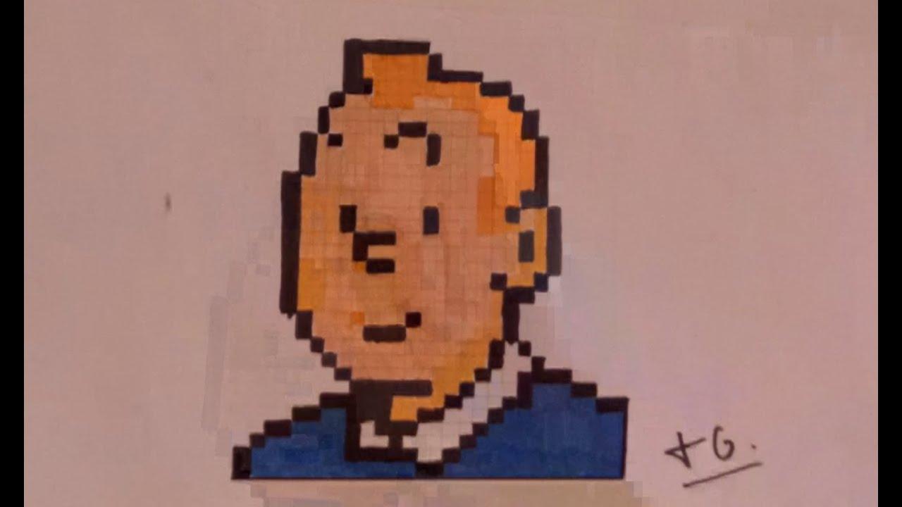Tintin Dessin Pixel Art