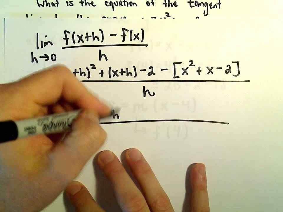 Finding The Equation Of A Tangent Line Using A Derivative Ex 2