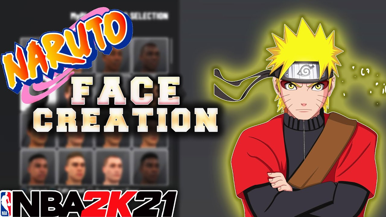 New Naruto Face Creation In Nba2k21 Best Naruto Face Creation On 2k Youtube