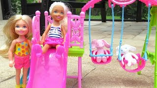 CAROUSEL, SLIDE & SWINGS - Chelsea and friends play in the park