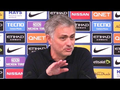 Manchester City 2-3 Manchester United - Jose Mourinho Post Match Press Conference - Embargo Extras