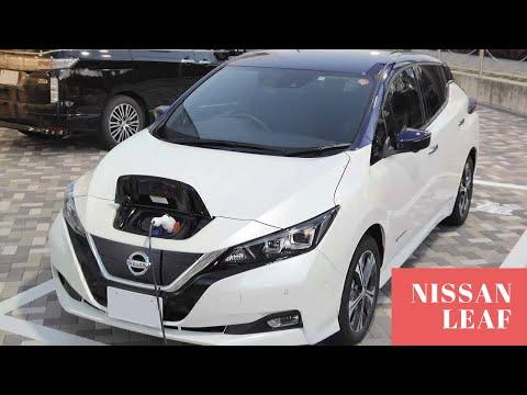 NISSAN LEAF 2018 года , из Японии , правый руль ? 400 на одном заряде батареи 🤔