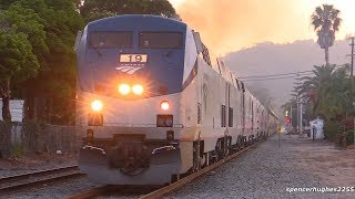 AMTRAK 11 CHASE with SIEMENS SC-44 CHARGERS!