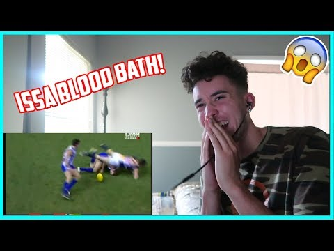 American Reacts To The AFL's Hardest Hits ( Australian Football League )
