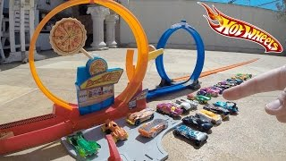 Hot Wheels Pista Pizza Rápida Looping Duplo - Carrinho Ultron Marvel #9