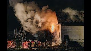Olszówka. Pożar budynku gospodarczego