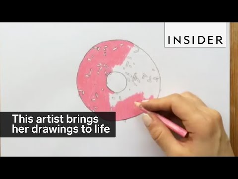 This artist brings her tiny drawings to life with stop motion