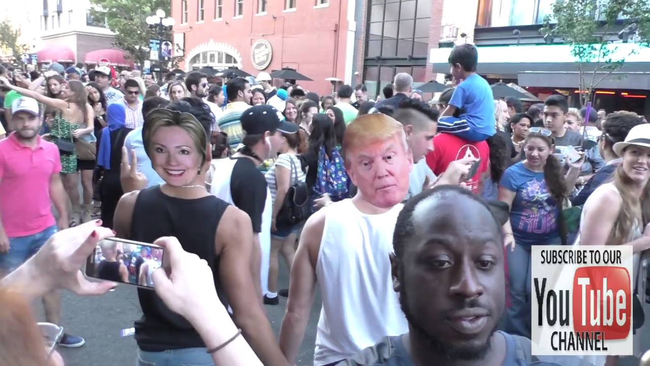 Hillary Clinton and Donald Trump Masks at Comic Con San Diego