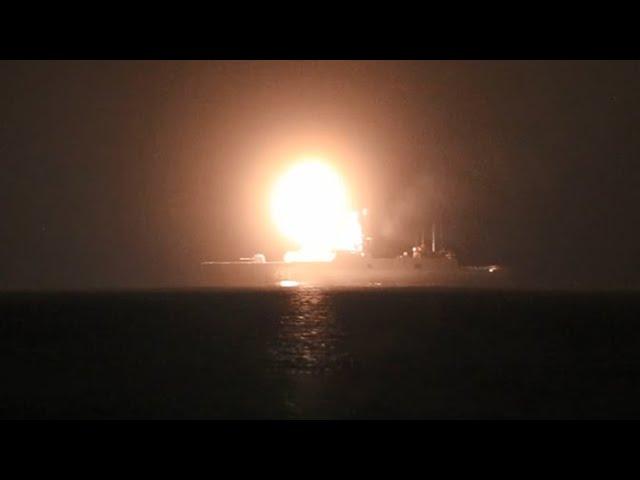 Пуск гиперзвуковой ракеты «Циркон» с фрегата «Адмирал Горшков»