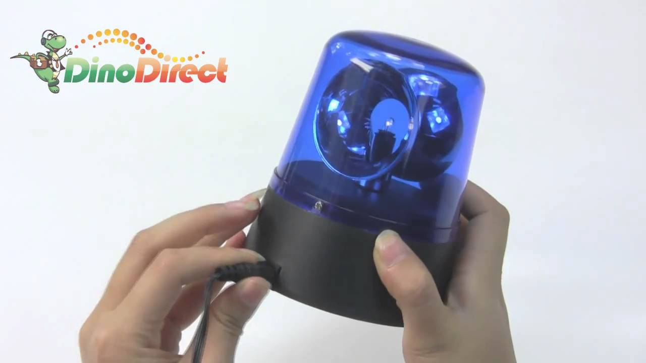 Battery Operated Rotating Disco Beacon Party Police Light
