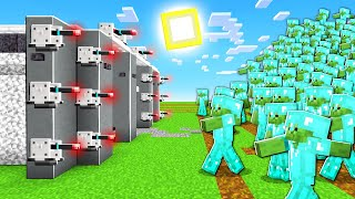 STEEL BUNKER vs 1,000 DIAMOND ZOMBIES In Minecraft!