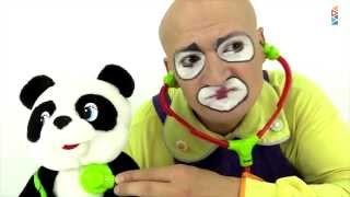 Clown & panda. Funny Clown Videos.