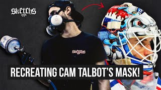 Recreating Cam Talbot's Goalie Mask: DIY Custom Paint