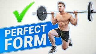 How To: Reverse Barbell Lunge | 3 GOLDEN RULES (GLUTES, QUADS & HAMSTRINGS))