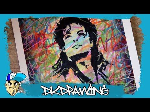Drawing Michael Jackson Stencil Pop Art Style