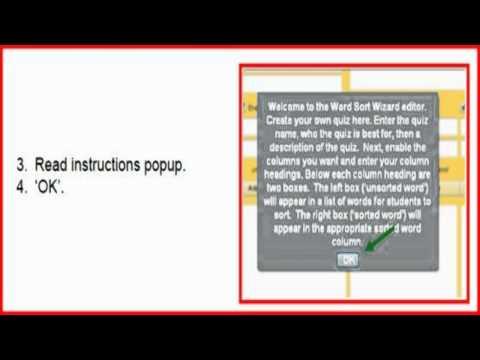 Word Sort Wizard website:  how to create your own digital word sort.mp4