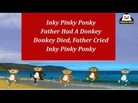 Animated Nursery Rhymes | Inky Pinky Ponky | Karaoke Song With Ding, Dong, Dumbo, Dopey & YoYo