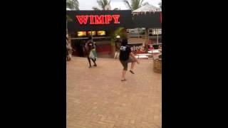 my crazy funny fun sister dancing with the Zulu