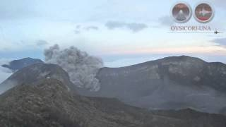 Costa Rica: Turrialba Volcano eruption lasts an hour spreading ash to San Jose