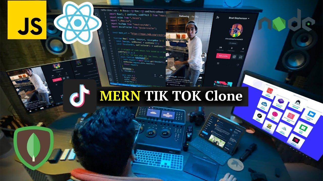 Build a TIK TOK Clone with MERN Stack (MongoDB, Express, React, Node JS)